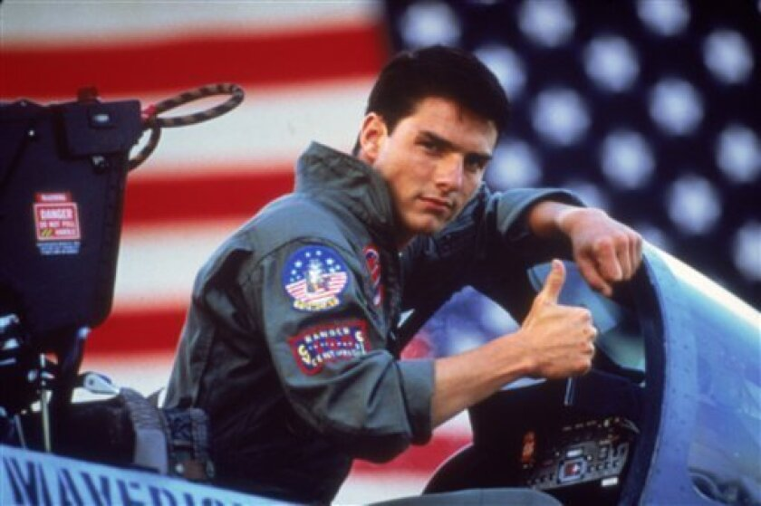 "Tom Cruise in the 1986 film ""Top Gun."""