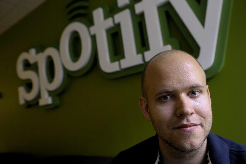 Spotify founder and Chief Executive Daniel Ek.
