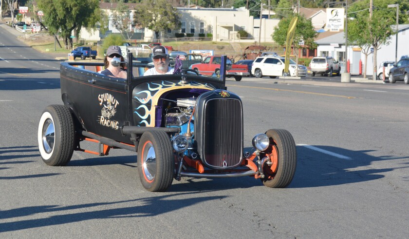 This Model A Ford is an eye-catcher at the Ramona American Graffiti Cruise Nights.