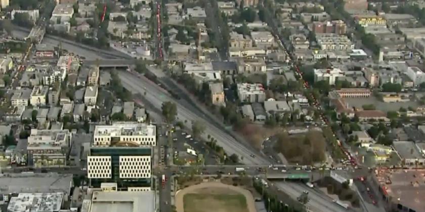101 Freeway closed in Hollywood