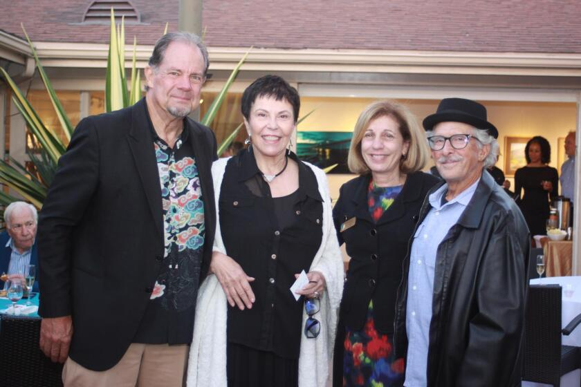 La Jolla Community Center board members Glen Rasmussen and Ruth Yansick with City Council member Barbara Bry and her husband Neil Senturia.