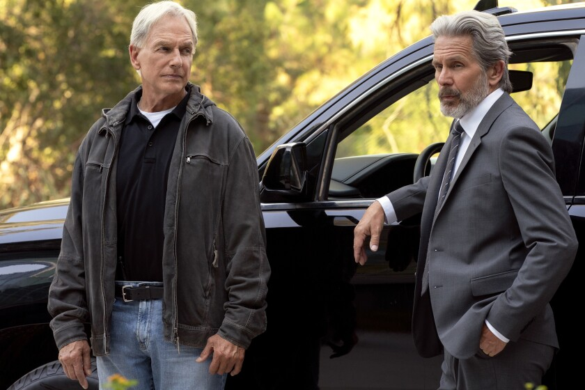"""Mark Harmon, left, and Gary Cole on """"NCIS"""" on CBS."""