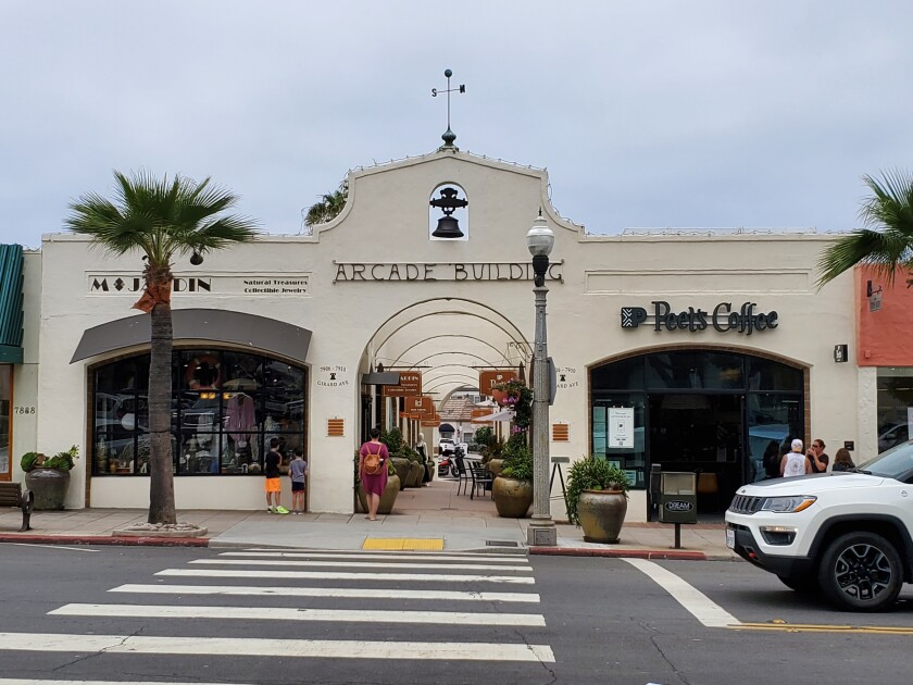 The Arcade Building on Girard Avenue in La Jolla was constructed in the 1920s.