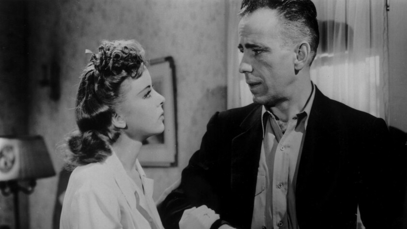 """Ida Lupino and Humphrey Bogart in the 1941 film """"High Sierra."""""""