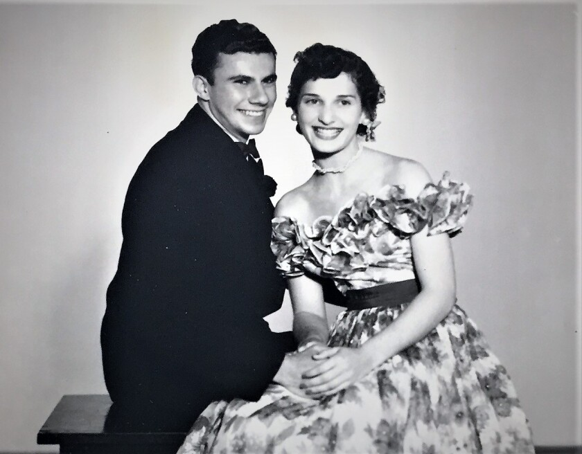 Ted and Anabel Mintz, shown at her senior prom at Hoover High School in 1947, became inseparable and did everything together.