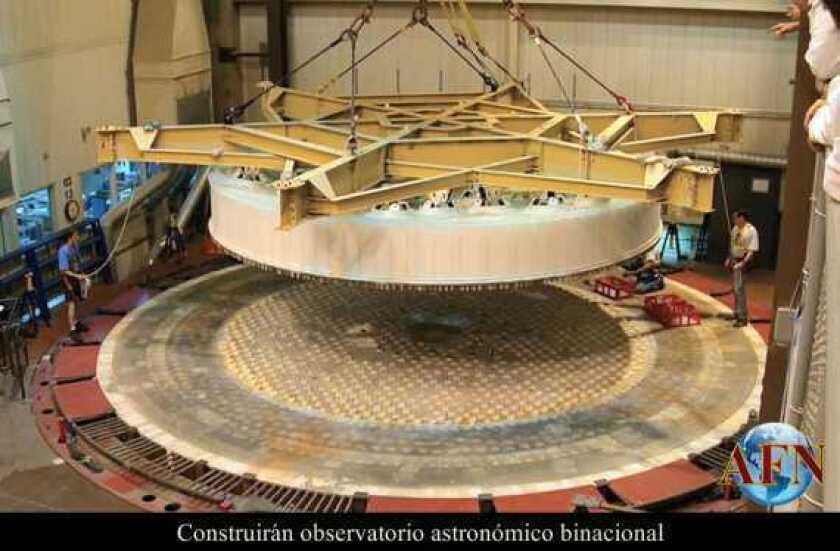 Construirán observatorio astronómico binacional