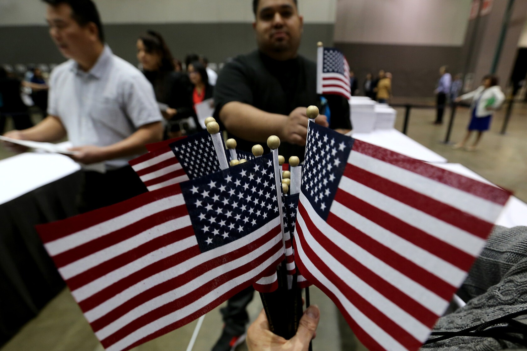 I'm so happy today': Thousands attend L A  naturalization ceremony