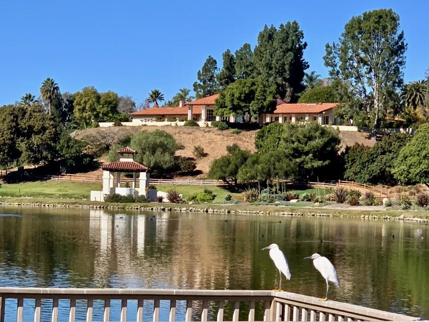 The Casa Zorro designed by Wallace Nef overlooking the Zorro Lake at Fairbanks Ranch Estates.
