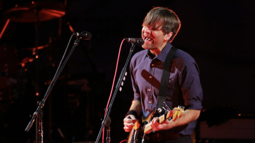 Ben Gibbard performs at the Hollywood Bowl on July 12.