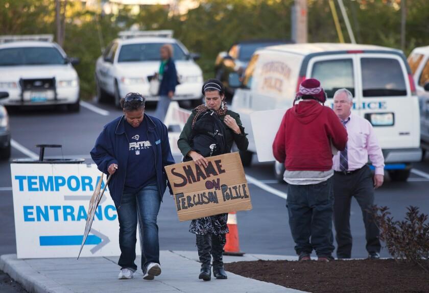Ferguson tense as grand jury nears decision