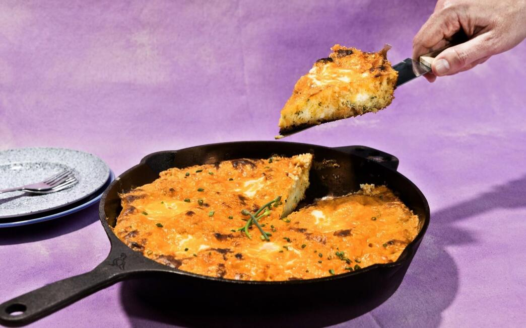 Egg and Cheese Skillet Pancake