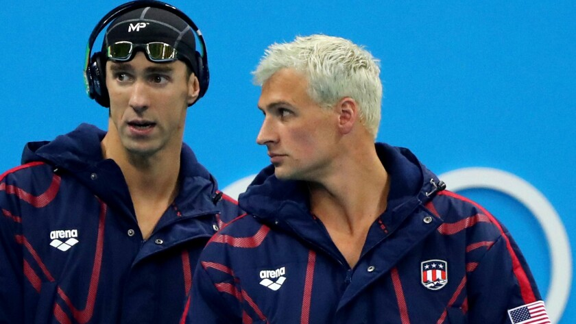 Michael Phelps, left, added to his impressive resume with six more medals (five gold) while Ryan Lochte added to his resume as well.