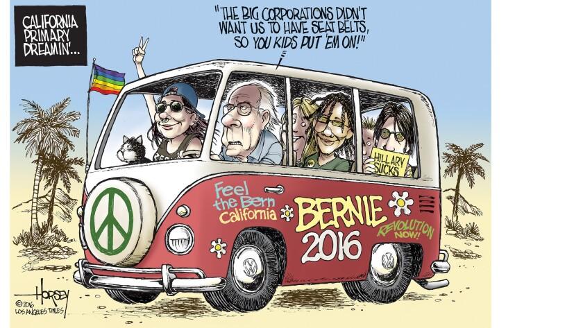 Bernie Sanders hits the road before California's primary