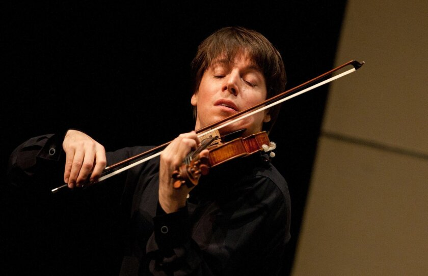 Violinist Joshua Bell will perform with the San Diego Symphony May 24, 25 and 26, 2013. Courtesy photo