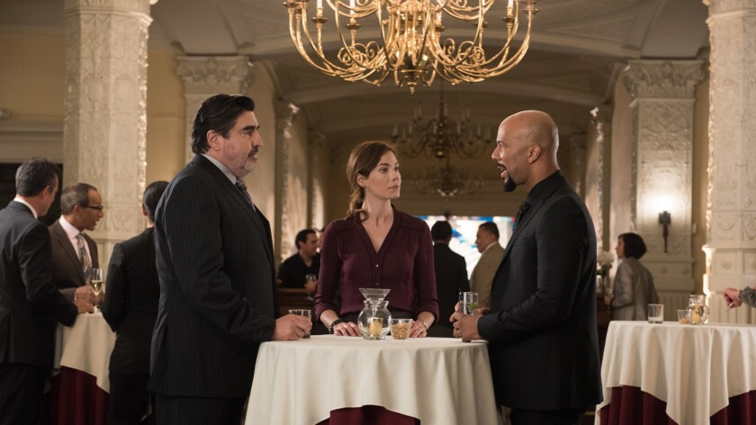 "Alfred Molina, from left, Michelle Monaghan and Common in the movie ""Saint Judy."""