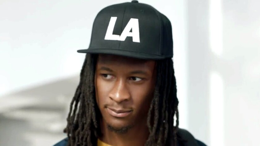 Former L.A. Rams running back Todd Gurley is seeking $2.295 million for his 5,100-square-foot home in Chatsworth.