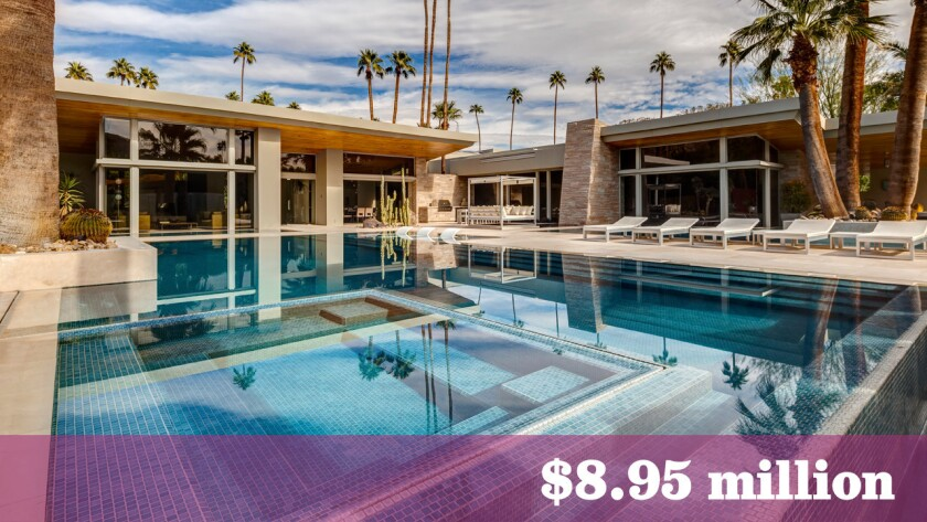 Clothing designer and entrepreneur Marc Ware has listed his estate in Palm Springs for sale at $8.95 million.
