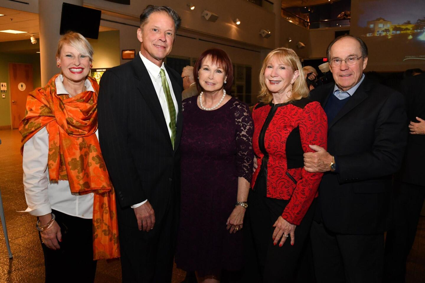 Merridee and Jon Book (she's 2018 PoP gala chair), Clarice Perkins (PoP 2018 president), Roxi and Hon. Fred Link (she's 2018 PoP gala chair)