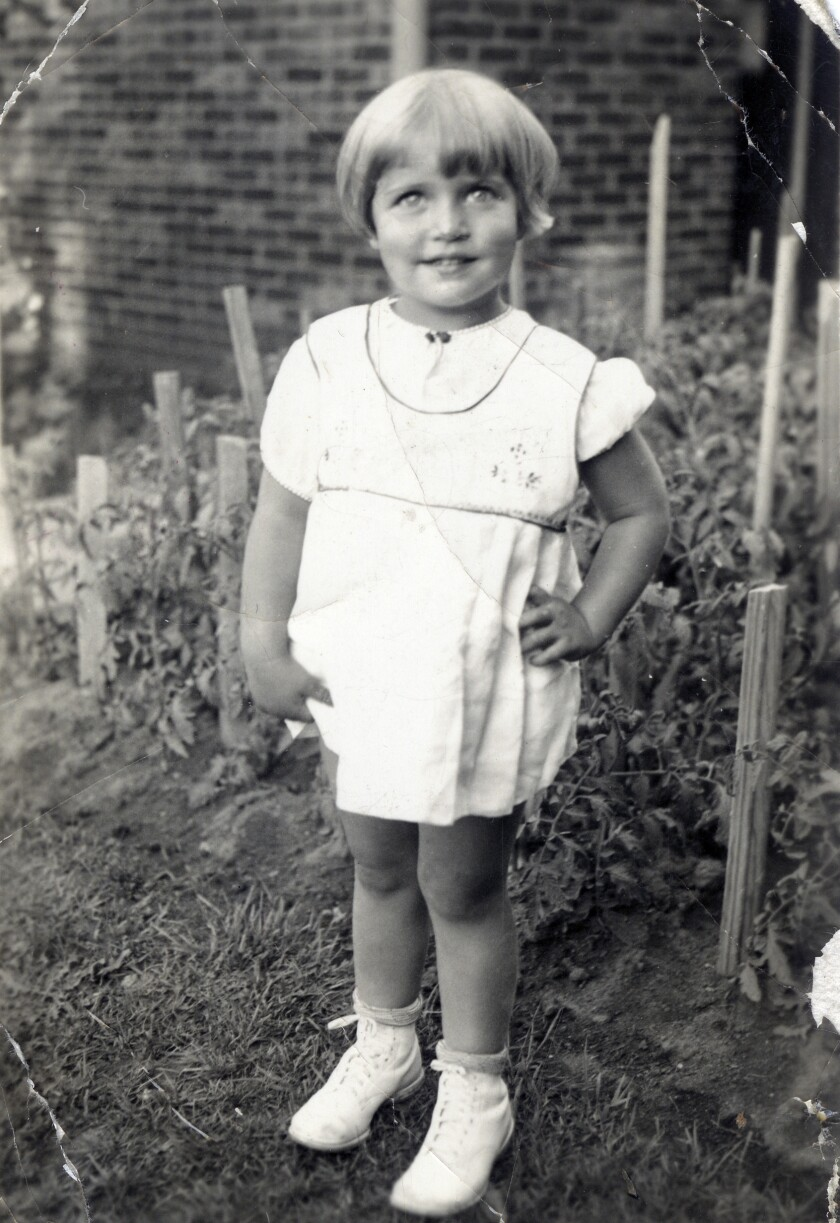 This image, provided by the Supreme Court, shows Joan Ruth Bader at 2 years old in 1935 at her home in Brooklyn.