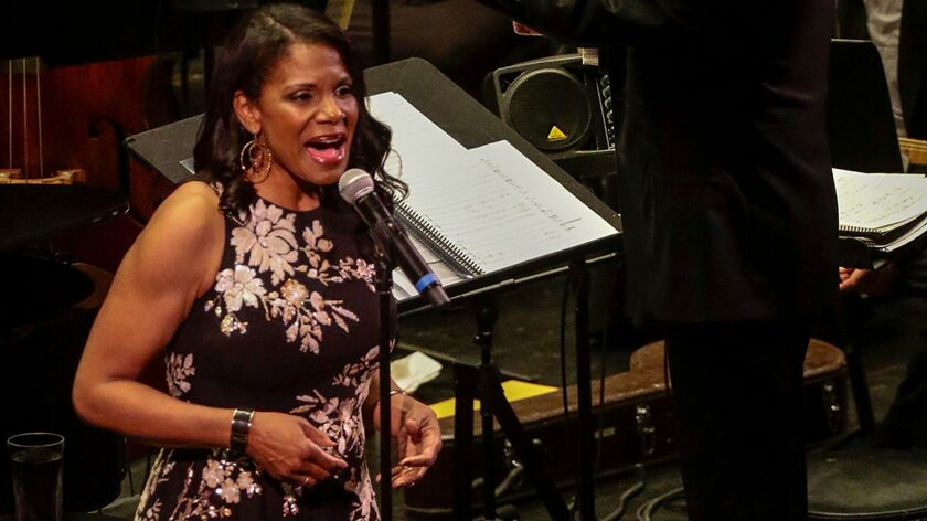 Audra McDonald in an L.A. Opera concert at the Dorothy Chandler Pavilion.