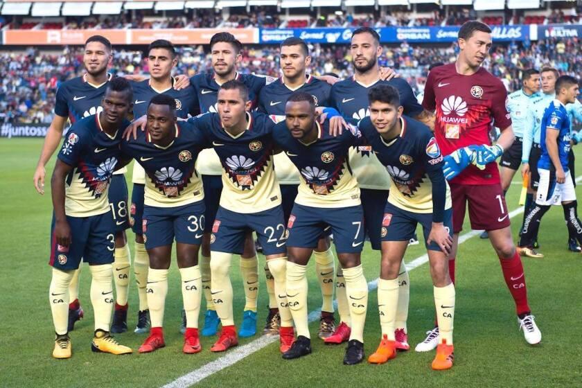 El América de la Jornada 1 ante Querétaro, en el estreno del Torneo Clausura 2018.
