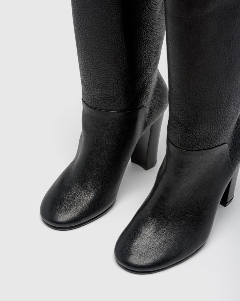 A Détacher black pebbled Duarte boots