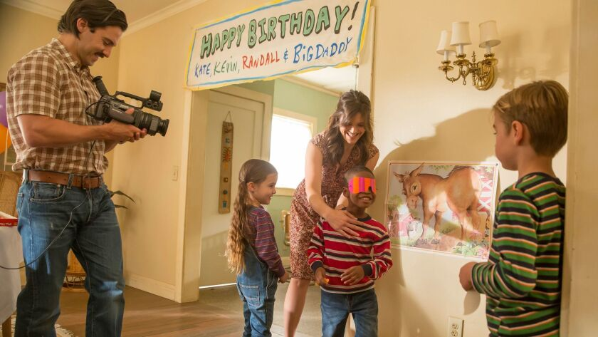 """Milo Ventimiglia as Jack, Mandy Moore as Rebecca in a scene from the first season of """"This Is Us."""""""