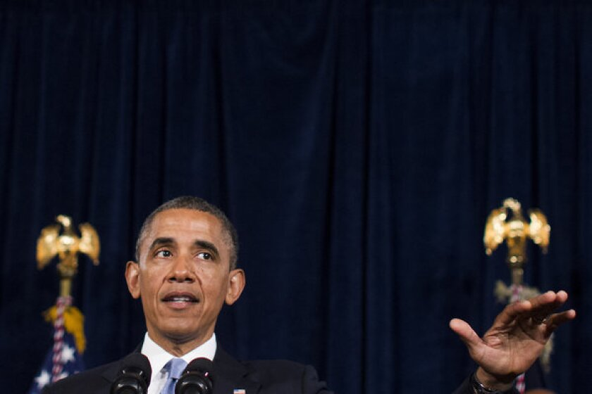 President Obama speaks about the Affordable Care Act in San Jose, Calif.