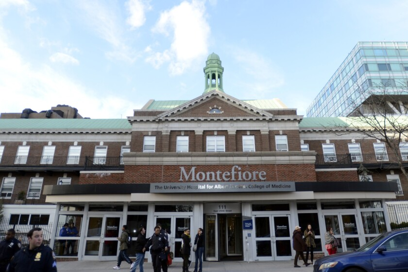 Montefiore Medical Center in the Bronx is pictured here in 2014.