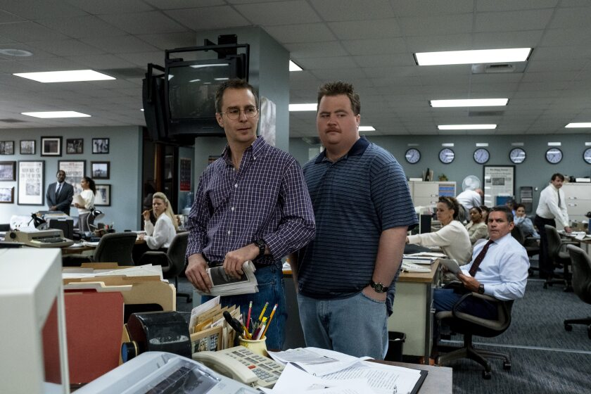 "Sam Rockwell and Paul Walter Hauser in ""Richard Jewell."""
