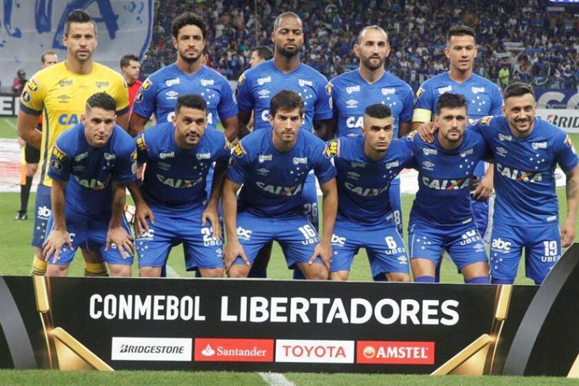 En la imagen, los jugadores de Cruzeiro. EFE/Archivo