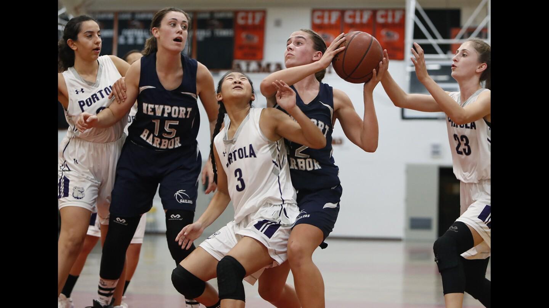 Photo Gallery: Newport Harbor vs. Portola in girls' basketball