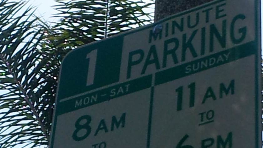 Too good to be true: L.A.'s 1 minute parking.