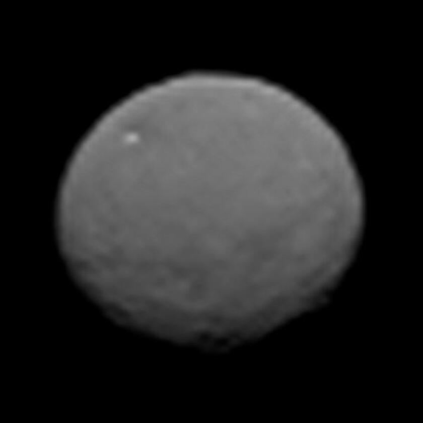 This image, taken 147,000 miles from Ceres by NASA's Dawn spacecraft, is part of a series of views representing the best look so far at the dwarf planet. The spacecraft is set to enter orbit March 6.
