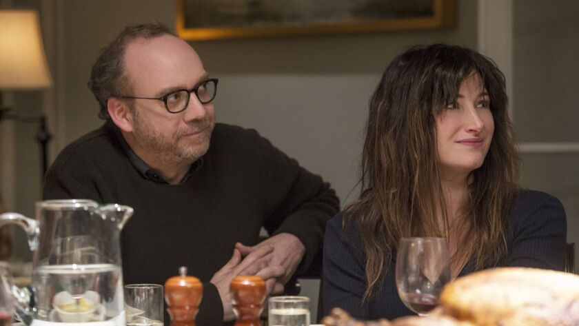 "(L-R) - Paul Giamatti and Kathryn Hahn in a scene from ""Private Life."" Credit: Jojo Whilden / Netfl"