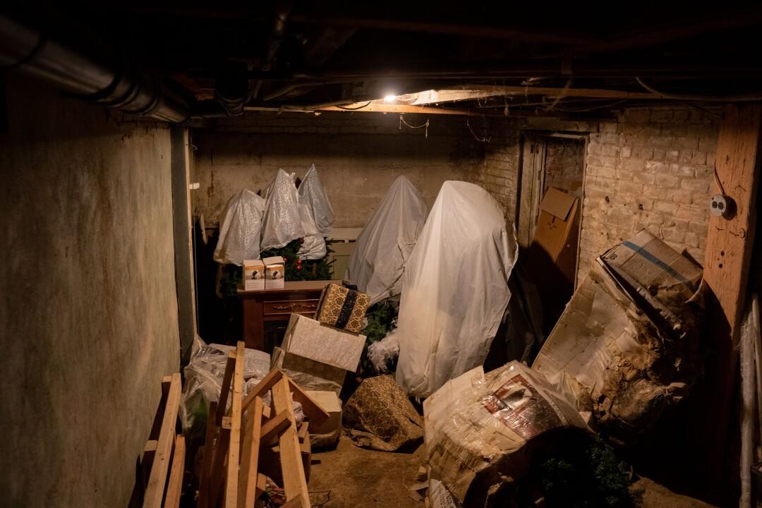 The basement of Reign Salon.