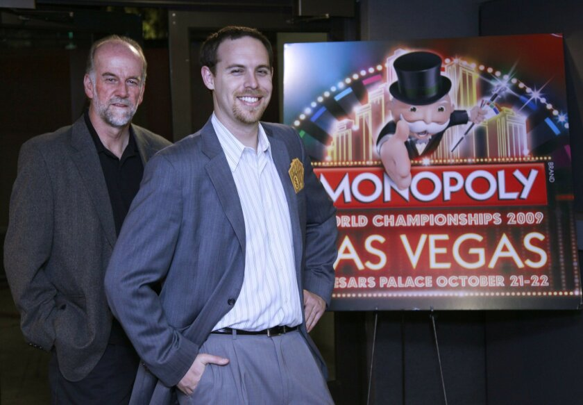 """Craig Bentley, left, and Kevin Tostado teamed up to make the first full-length documentary on """"Monopoly"""""""