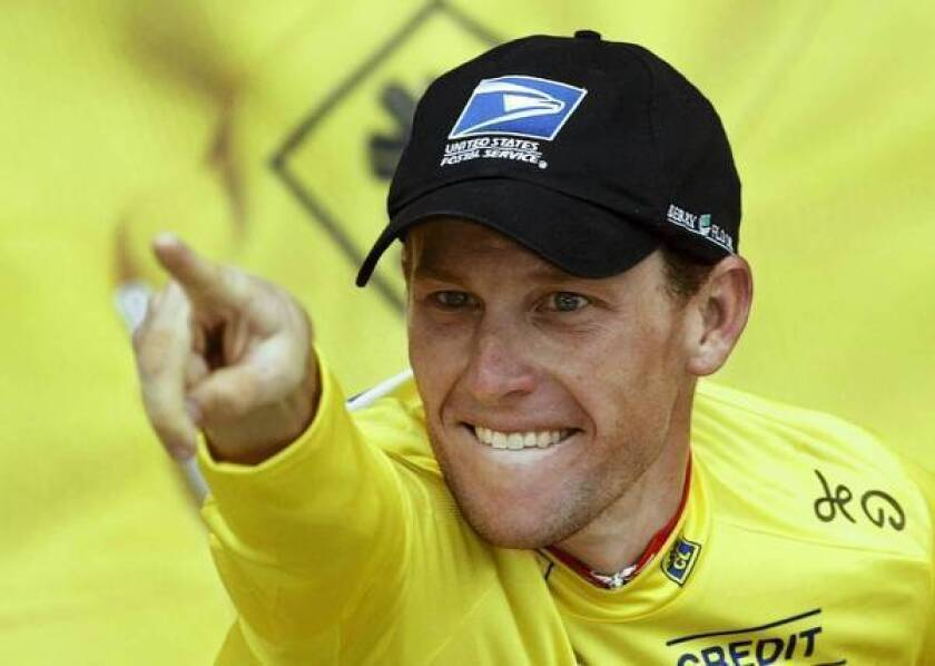 """Lance Armstrong celebrates after winning a stage of the Tour de France in 2003. Robert Feldman, a leading researcher on the psychology of lying, says that in the case of Armstrong's deception, """"he was pretty confident he could get away with it."""""""