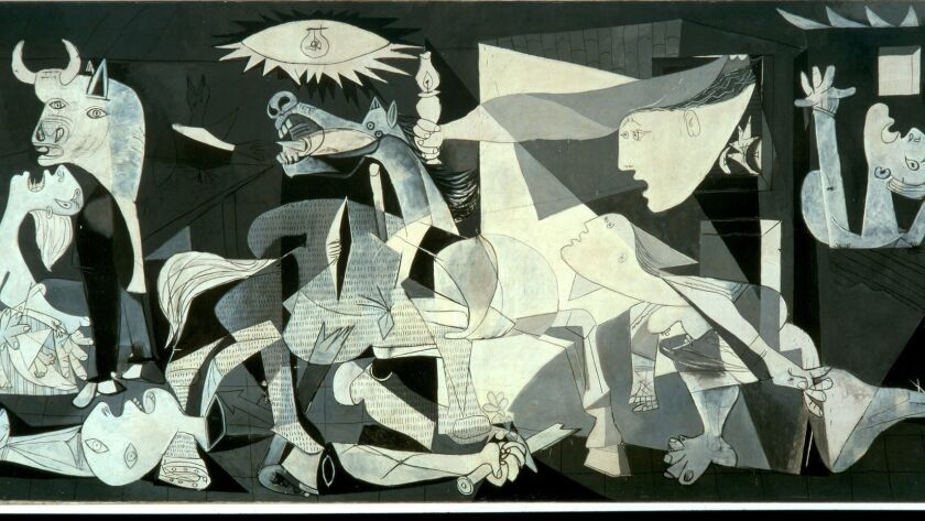 OE–GUERNICA9. Image shows: Guernica, 1937 (oil on canvas) by Pablo Picasso. Credit: Museo Nacional C