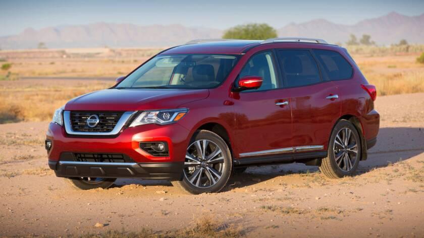 La 2017 Nissan Pathfinder.