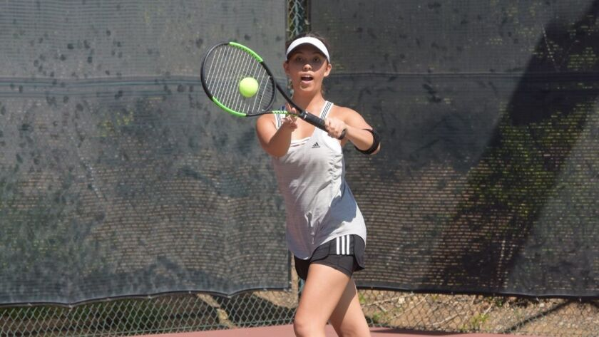 Del Lago's Julia Gowland hopes to play college tennis.
