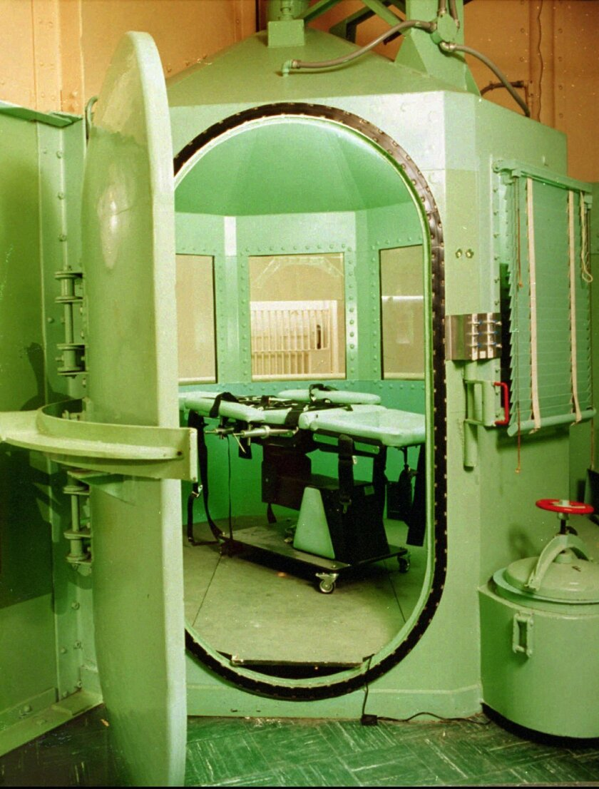 The execution chamber and lethal-injection table at San Quentin State Prison. 1996 file photo / Associated Press