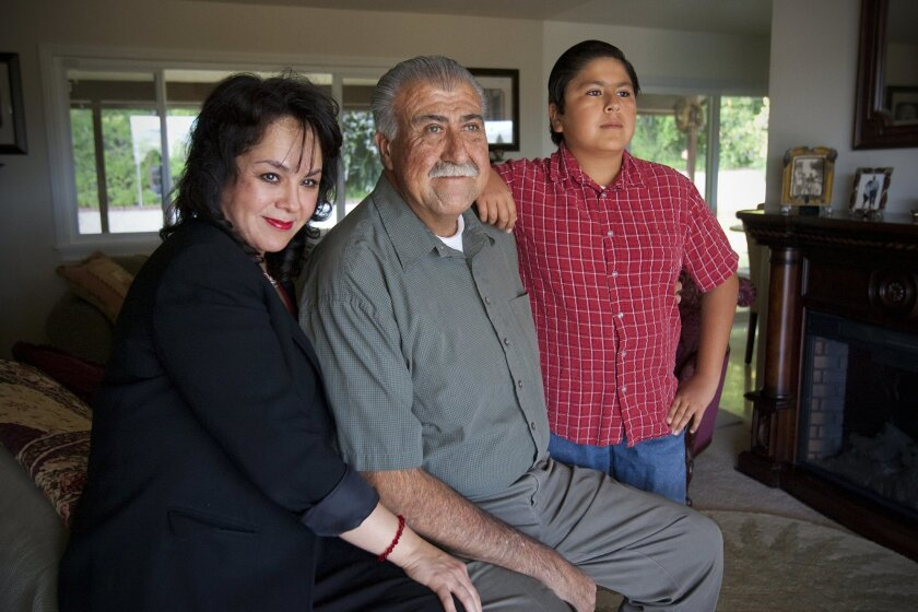 """Arturo Cuevas, who received a heart transplant 23 years ago, said his wife, Maria Mariscal, and his son, Roman, """"keep me going."""""""