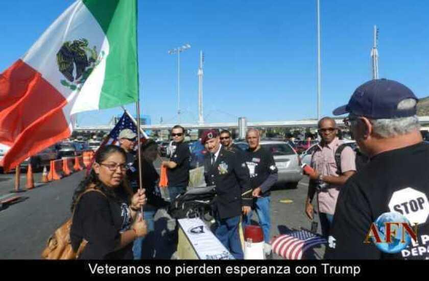 Veteranos no pierden esperanza con Trump