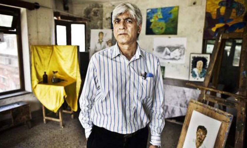 <b>ARTIST:</b> Masood Hussain, a sculptor and teacher, brought an arts conference back to Srinigar after it had gone years without such gatherings.