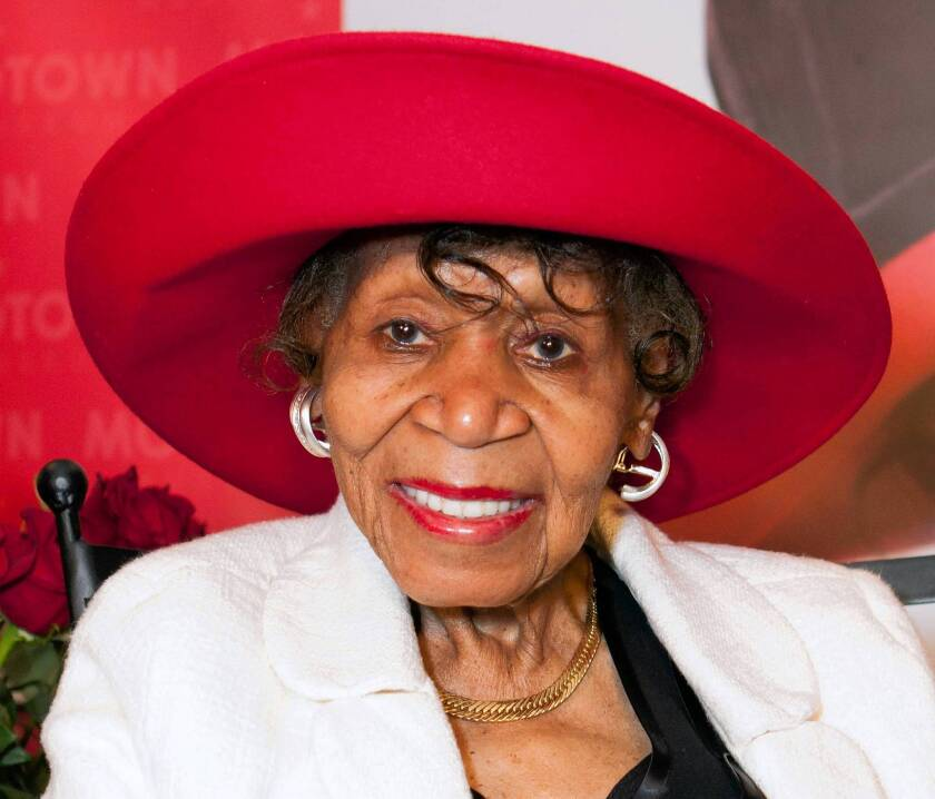 Maxine Powell beams during an event in her honor in August at the Motown Museum in Detroit. Powell, who was responsible for developing the charm, grace and style of Motown Records' artists during the Detroit label's 1960s heyday, died Oct. 14, 2013, at 98 in Michigan.