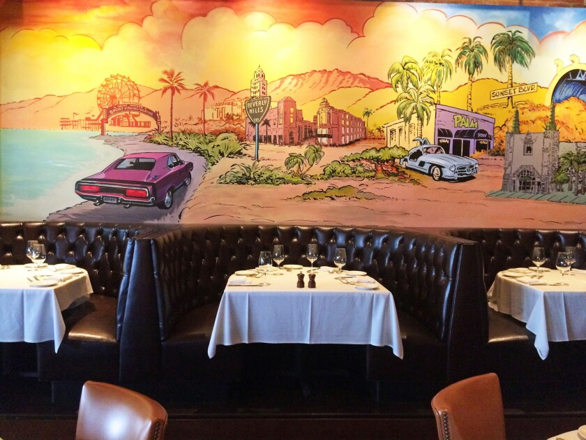The new Palm Restaurant in Beverly Hills.