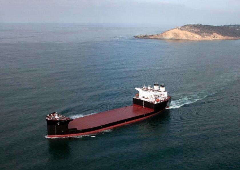 The USNS John Glenn underwent builder's trials off San Diego in January.