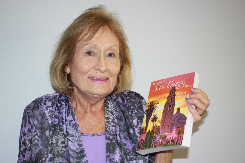 Linda Pequegnat discusses La Jolla's history June 16 at the Community Center.