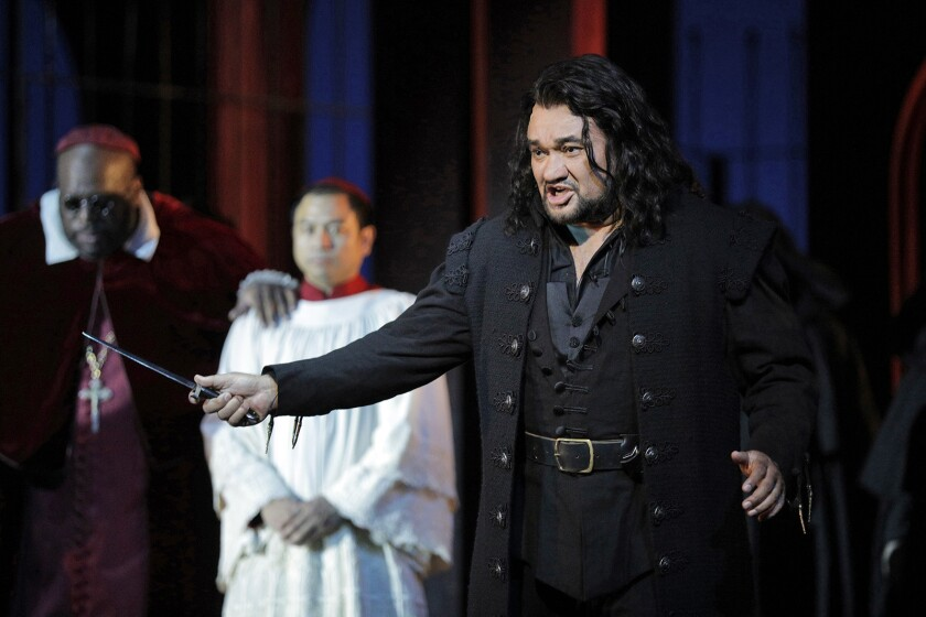 """Mexican tenor Ramón Vargas sings the title role in LA Opera's staging of Verdi's """"Don Carlo."""""""
